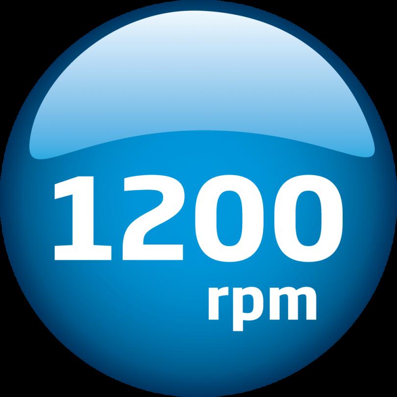 1200 obrtaja
