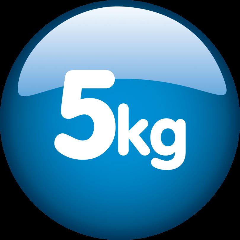 Kapacitet 5kg