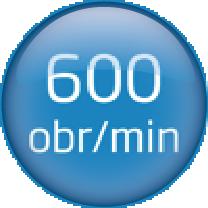 600 obrtaja