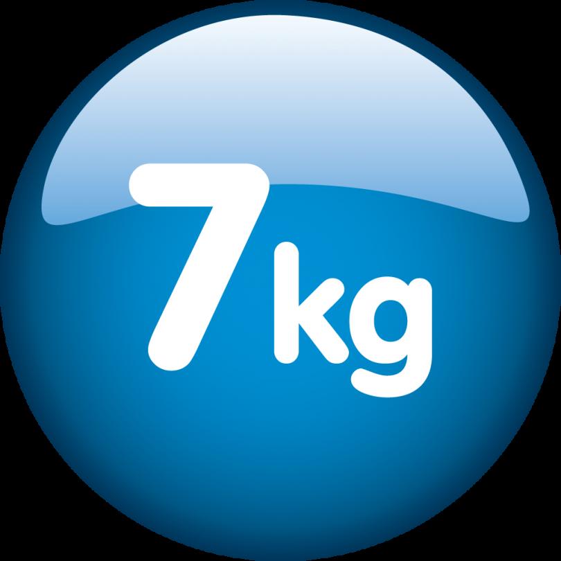 Kapacitet 7kg