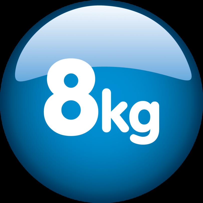 Kapacitet 8kg
