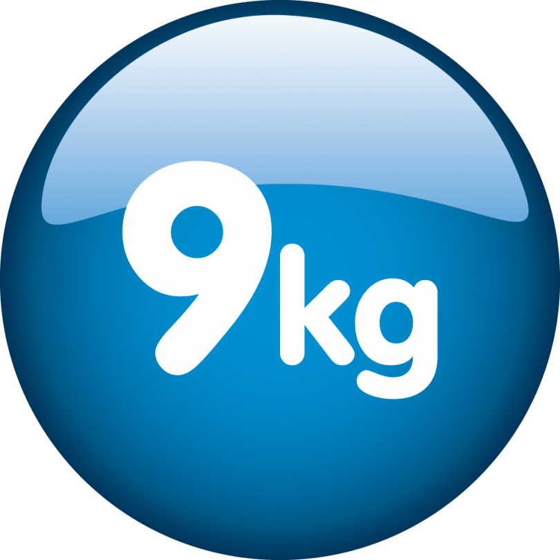 Kapacitet 9kg