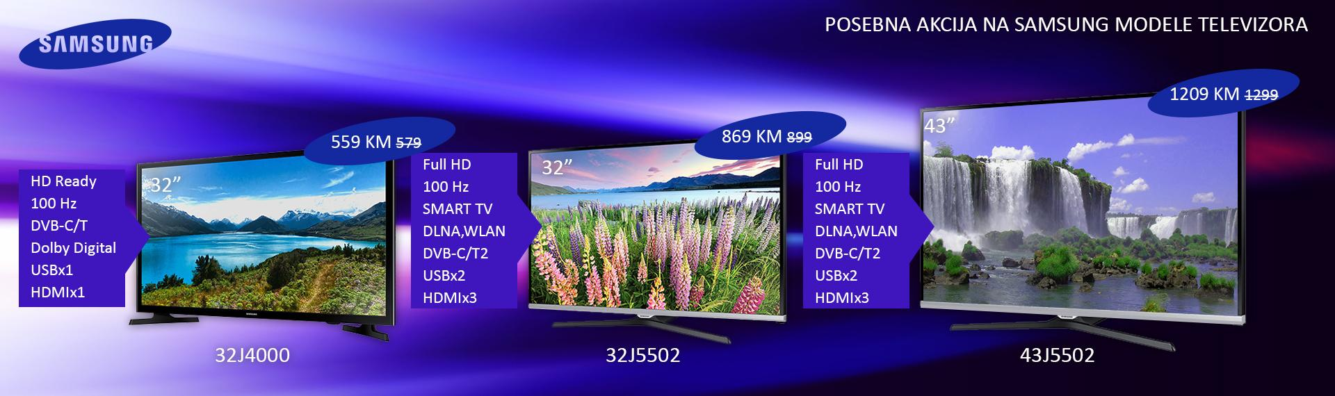 Samsung televizori Juli